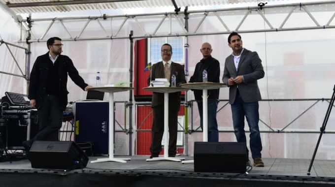 Jimmie Åkesson debatterade mot Ardalan Shekarabi i Bromölla. Foto: / Tomas LePrince/Expressen