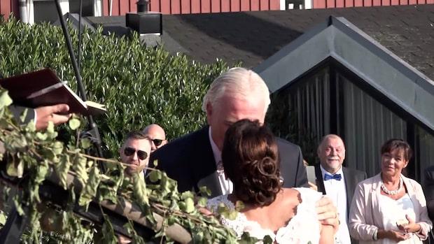 Här gifter sig Glenn Hysén och Camilla Lendott