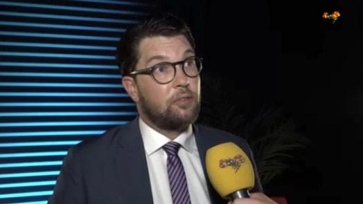 Åkesson: Sjöstedt har fört Sverige mot en välfärdskollaps