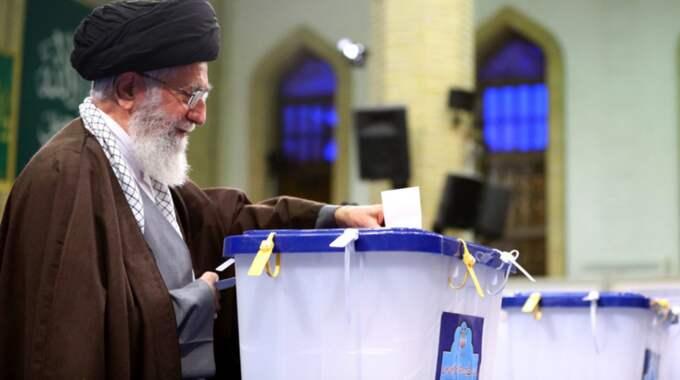 55 miljoner av Irans 80-miljonersbefolkning förväntas rösta i valet. Foto: Abedin Taherkenareh / Epa / Tt