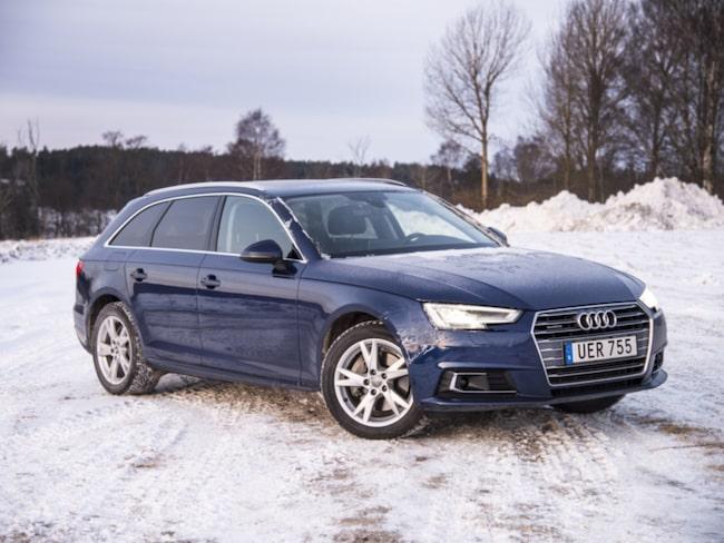 Nya Audi A4 Avant trivs bra i svensk vinter.