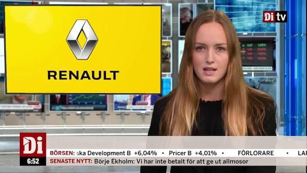 Di Morgonkoll: Franska biljätten Renault vinstvarnar för helåret