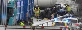 Allvarliga olyckor vid Katrineholm –  två personer fastklämda i bil
