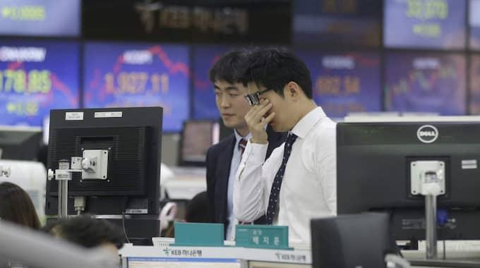 Tisdagen började i dur på Stockholmsbörsen, med en uppgång på nästan en procent efter måndagens tapp på 3,2 procent. Foto: Ahn Young-Joon