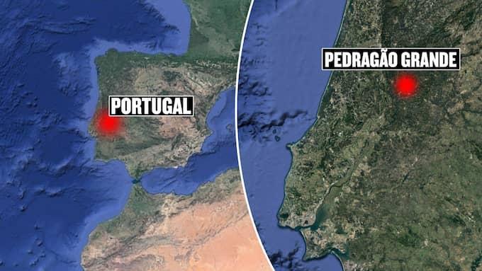 Pedrogão Grande ligger i centrala Portugal. Foto: Google maps