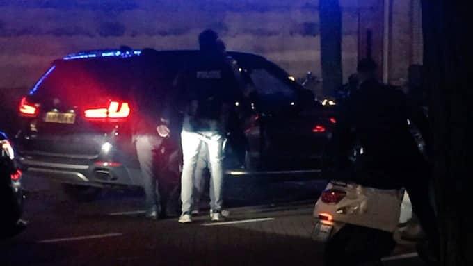 De fyra männen greps i centrala Rotterdam. Foto: Gerard Bolt