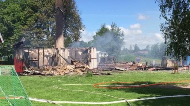 Brand nära förskola i Helsingborg
