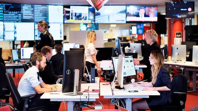 Expressens nyhetsredaktion är öppen dygnet runt. Foto: ANNA-KARIN NILSSON
