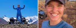 Fredrika har cyklat runt  jorden – i 1 000 dagar