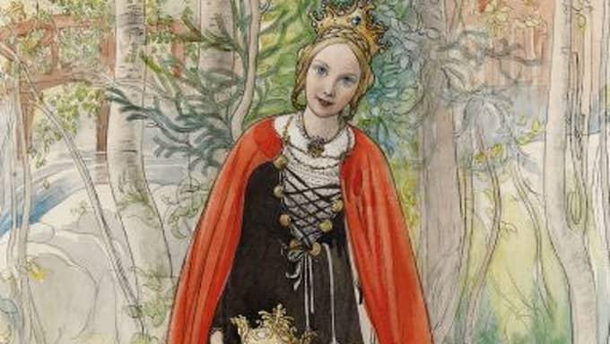 """Pedagogisk världsbild. Carl Larsson. """"Prinsessan vår"""" från tidningen Jultomten 1898."""