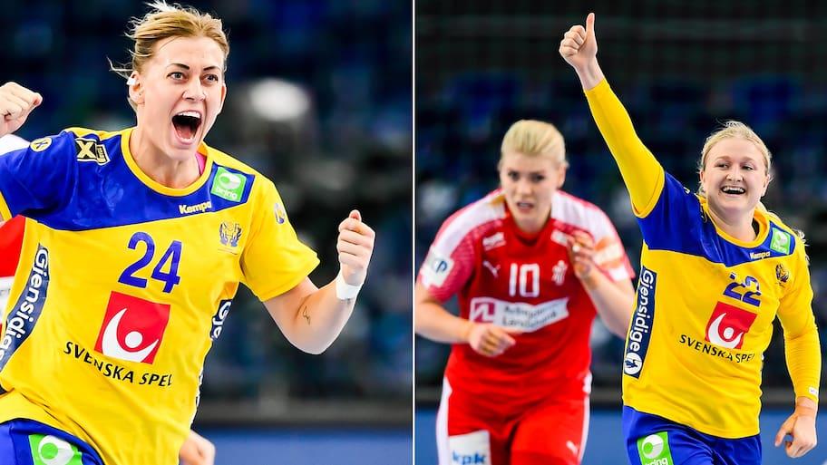 SUCCÉN! Sverige slog Danmark i VM-kvartsfinalen