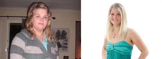Tappade vikt. Ida Engström, 23, från Borlänge rasade 20 kg.