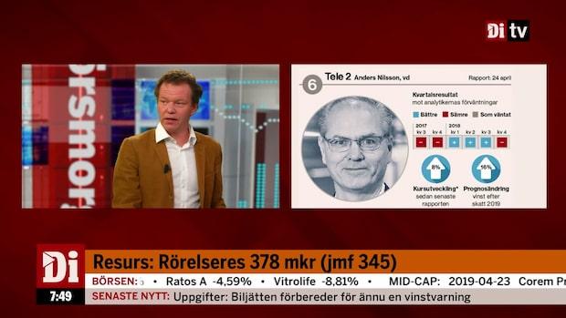 """Di:s analytiker om Tele2: """"Det är stora förändringar i branchen"""""""