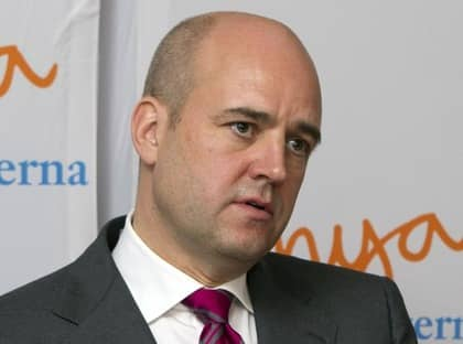 """Fredrik Reinfeldt är inte beredd att ingå i någon """"kohandel."""" Foto: Roger Vikström"""