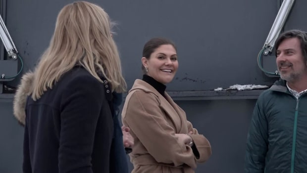 Victoria smutsade ner händerna på klimatbesök