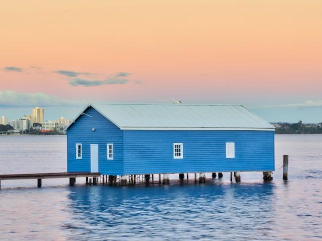 Det lilla blå båtskjulet har blivit en populär bild på Instagram.
