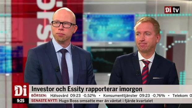 """Investor och Essity rapporterar imorgon: """"väldigt intressant"""""""