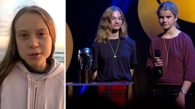 Här prisas Greta Thunberg