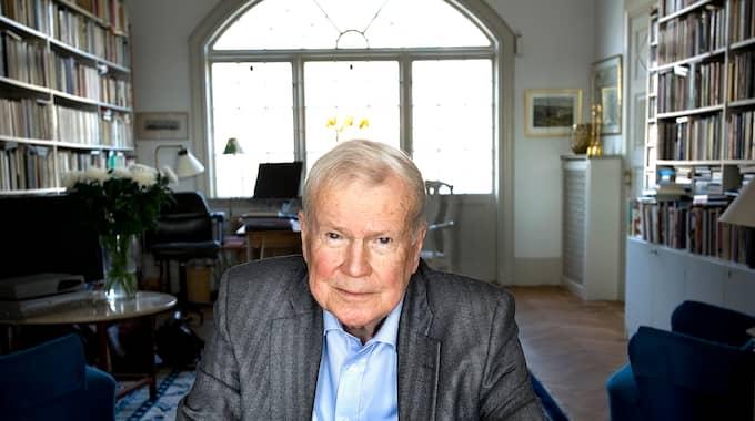 Kjell Espmark valde att lämna Svenska Akademien 6 april i år. Foto: DAN HANSSON / SVD / SCANPIX / SVENSKA DAGBLADET SCANPIX SWEDEN