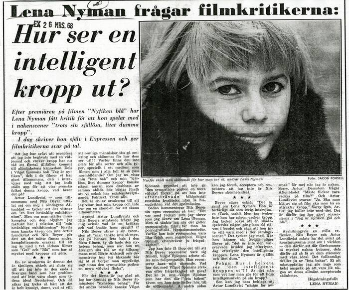 Lena Nyman Fragar Filmkritikerna Hur Ser En Intelligent