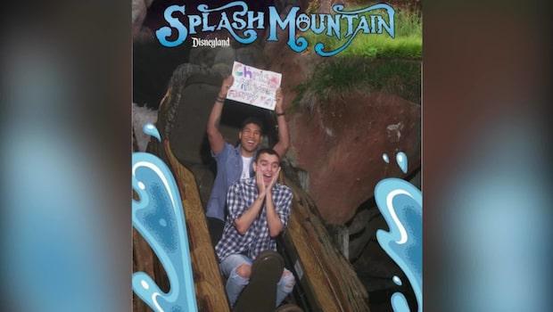 Bilden som paret tog på Disneyland sprids världen över