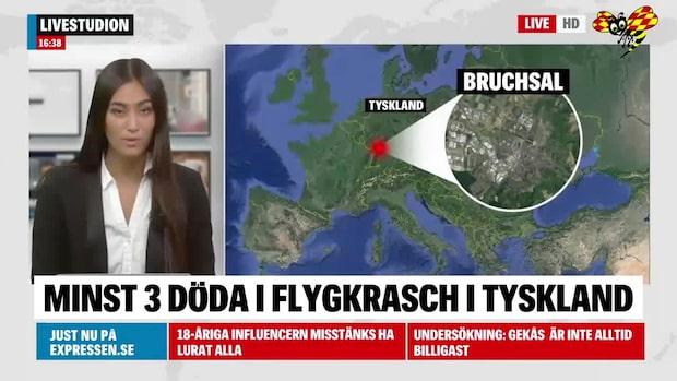 Flygkrasch i Tyskland – minst tre döda