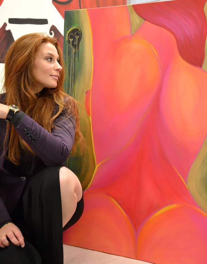Som yngre vågade Pernilla inte ta ut svängarna i att måla nakna människor för att det kändes tabu. Men i dag har hon insett att hon målar det hon vill. Foto: Privat