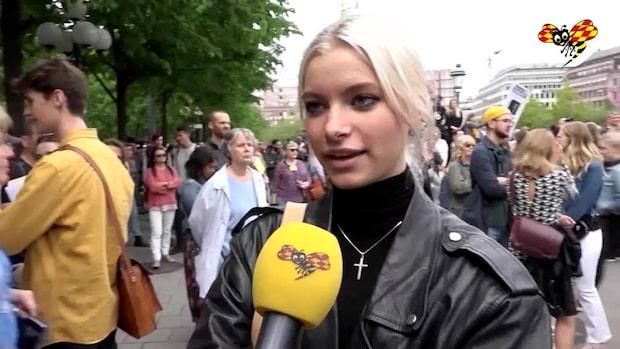"""Maj, 15, strejkar i Stockholm: """"Klimatet är det finaste vi har"""""""