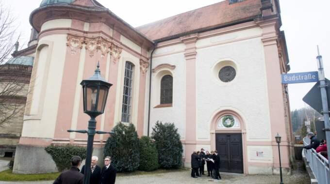 Johann Georg av Hohenzollern begravs i Hedinger kirche i Sigmaringen i Tyskland. Foto: Tomas Leprince