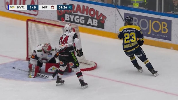 Höjdpunkter: Lias Andersson blev matchhjälte för HV71