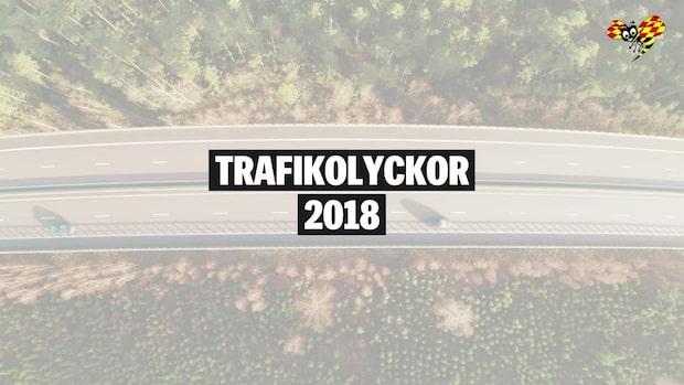 Trafikolyckor i Sverige: 2018 års statistik