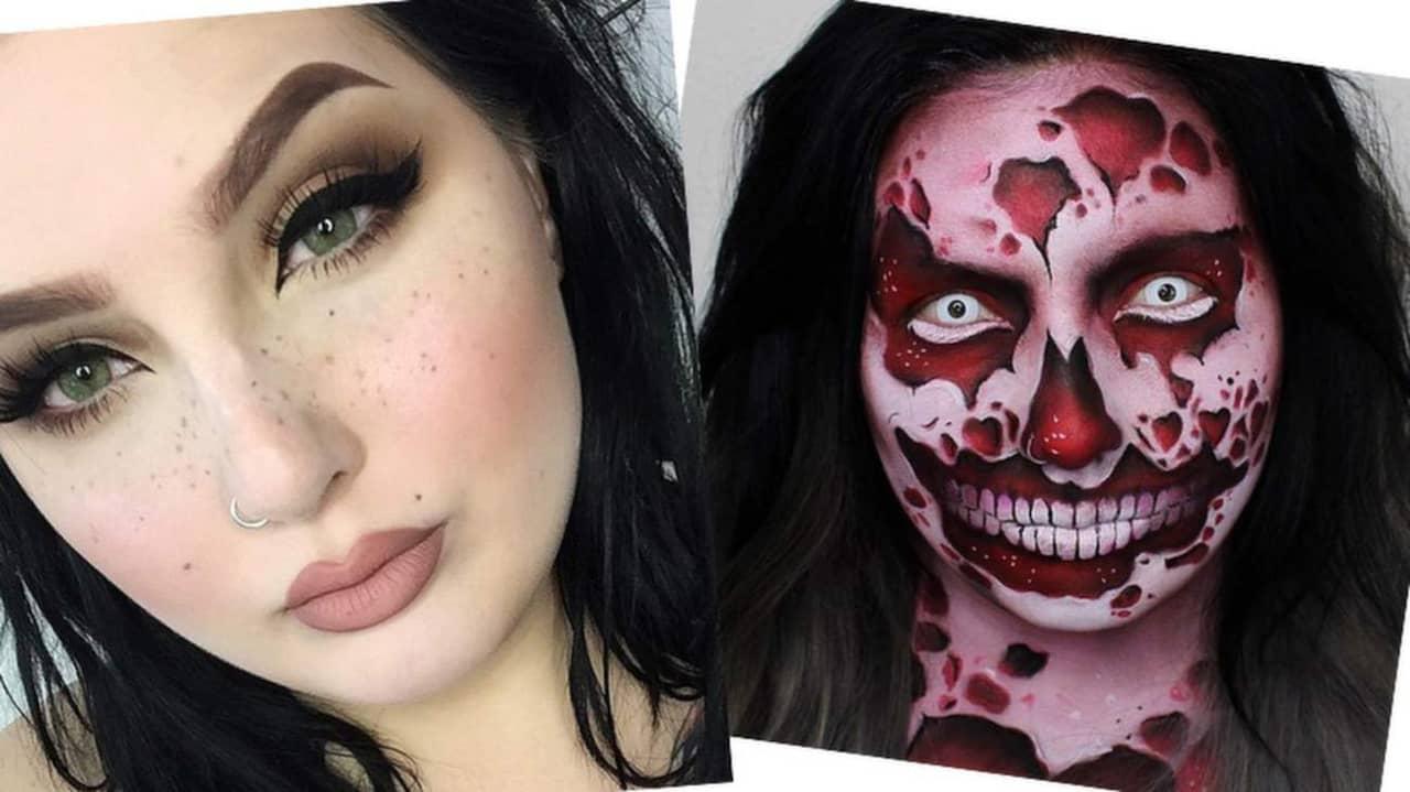 zombie sminkning steg för steg