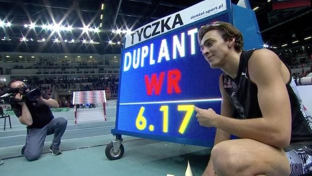 Världsrekord av Armand Duplantis – klarade magiska 6,17