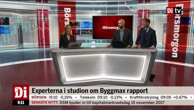 Experterna i studion om Byggmax rapport