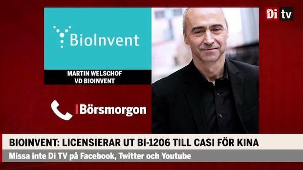 """Martin Welschof vd BioInvent: """"Det här är en viktig milstolpe för oss"""""""