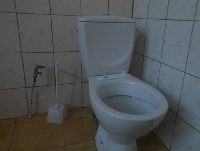 En av toaletterna i Stora Ekeberg.
