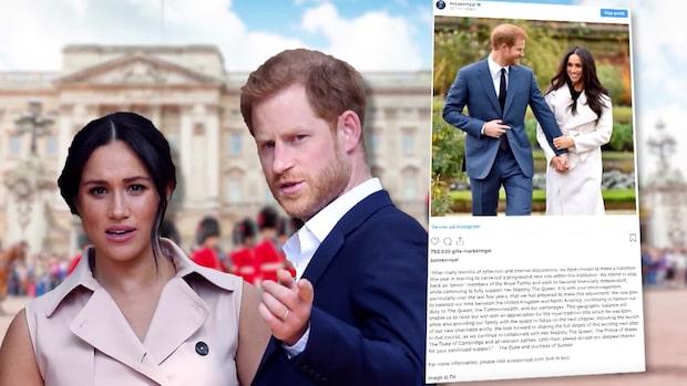Meghan och Harry blir av med sina kungliga titlar