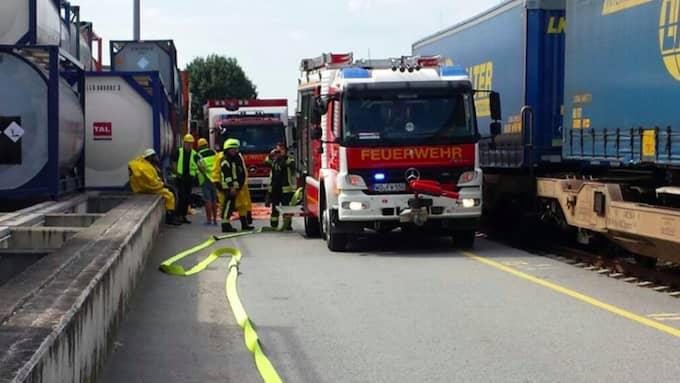 Brankåren tvingades rycka ut. Foto: Feuerwehr Worms