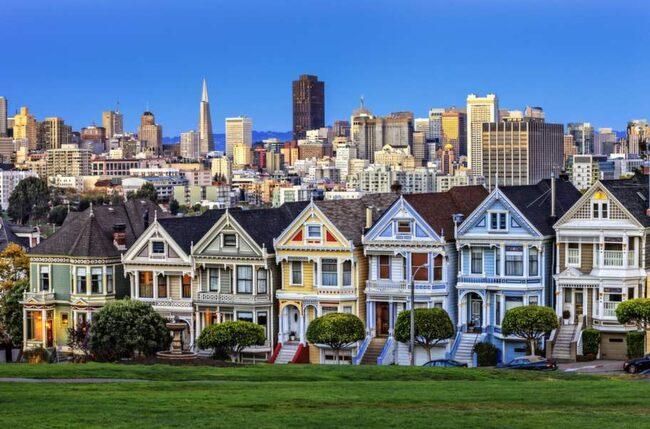 Viktorianska hus i San Francisco.