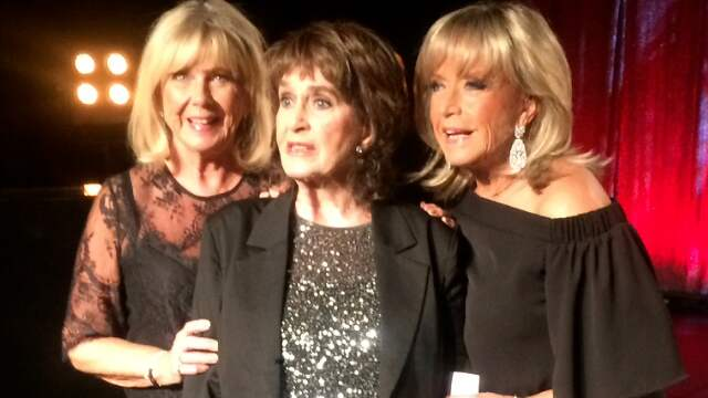 Ann-Louise Hanson, Siw Malmkvist och Lill-Babs på sin turné under förra året i Karlstad.