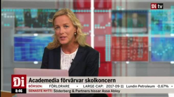 """Di TV:s programledare Anna Ekelund i """"Börsmorgon"""" som sänds varje vardag 08.45-09.25. Börsöppningen analyseras."""