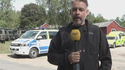 Polis, ambulans och militär på plats efter Jas-kraschen