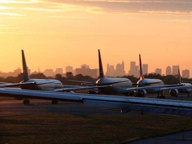 Det var på flygplatsen JFK i New York som olyckan inträffade.