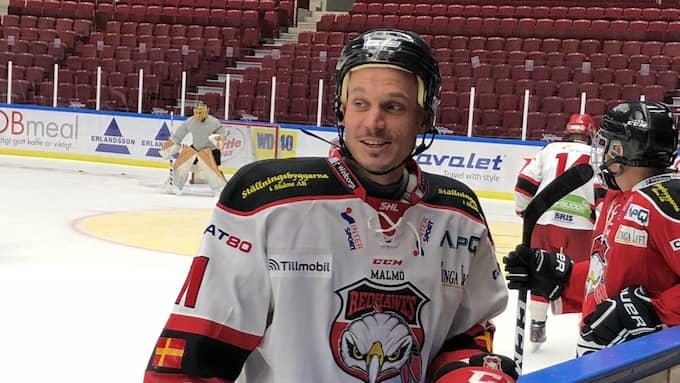 Markus Rosenberg – i Malmö Redhawks tröja. Foto: Johan Svensson