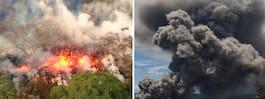 """Explosivt vulkanutbrott – stenblock  lika stora som """"köksutrustning"""""""