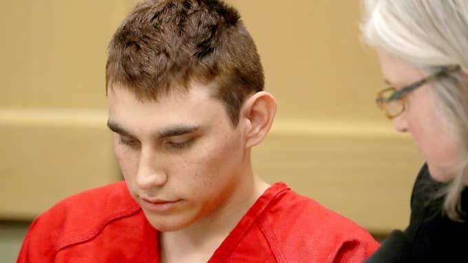 Nikolas Cruz sköt ihjäl 17 personer i skolskjutningen i Florida 14 februari. Foto: MIKE STOCKER / AP TT NYHETSBYRÅN