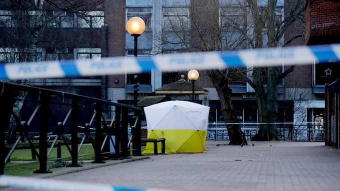 I söndags förgiftades den ryske före detta spionen Sergei Skripal och hans dotter med nervgas i den engelska staden Salisbury. Foto: MATT DUNHAM / AP TT NYHETSBYRÅN