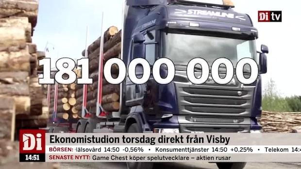 Dagens siffra: Så mycket gods fraktades på svenska vägar 2016.