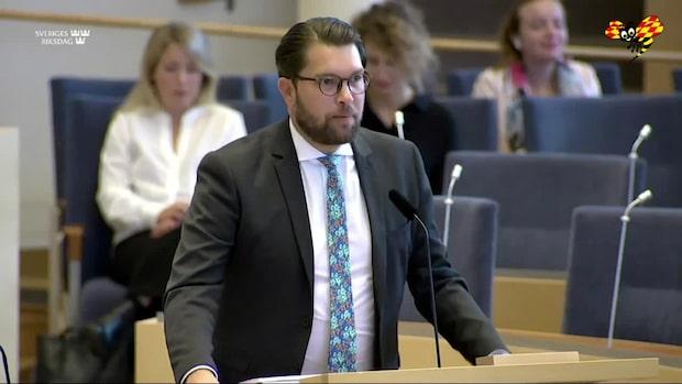 Jimmie Åkessons besked: Jag har inte corona