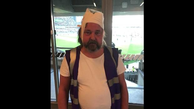 Fotograf fick stol kastad i huvudet under derbyt